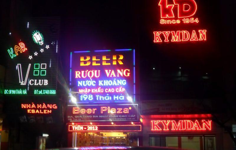 Biển quảng cáo đèn Led vô cùng nổi bật vào ban đêm