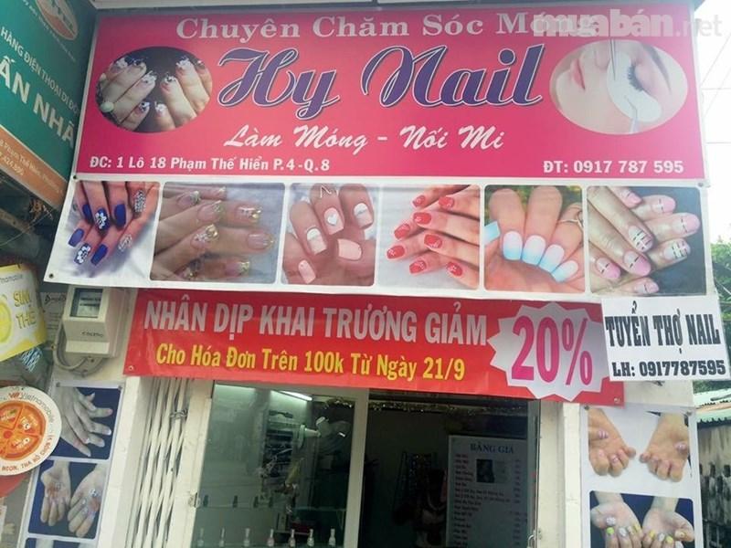 bảng hiệu quảng cáo nail1