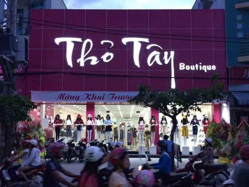 mẫu biển hiệu shop thời trang đẹp