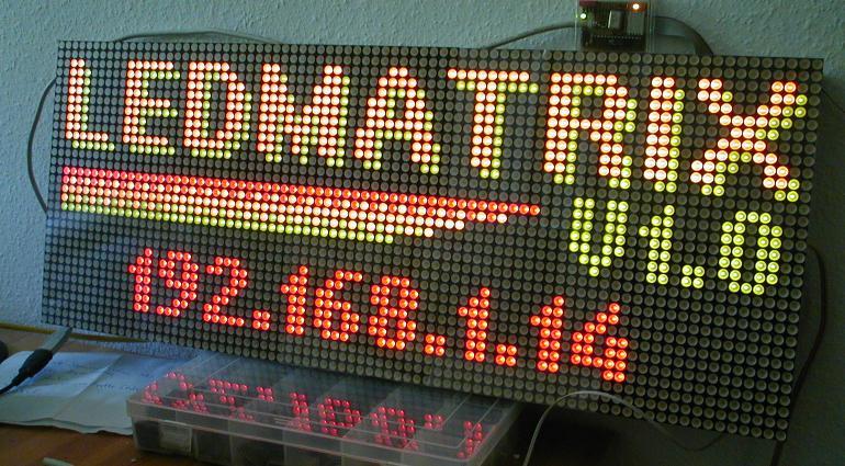 làm biển led matrix chạy chữ